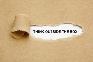 When picking a name for your website, don't be afraid to think outside the box