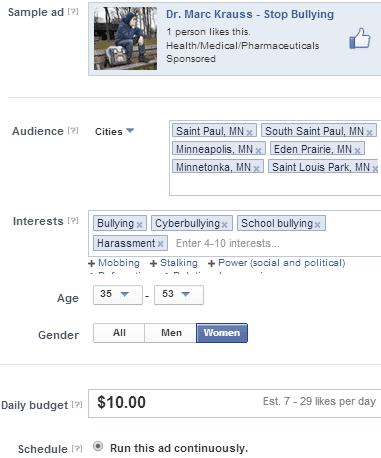 Facebook ad setup