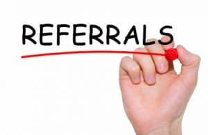referrals from physicians.